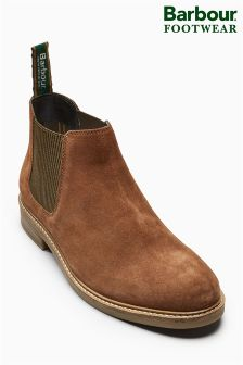 Barbour® Rust Suede Penshaw Chelsea Boot