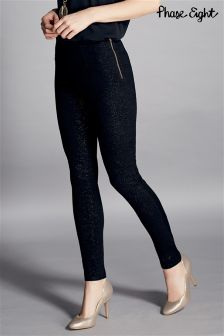 Phase Eight Black Amina Sparkle Jegging