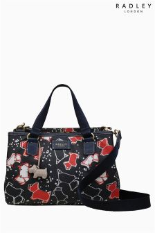 Radley Ink Navy Speckle Dog Medium Multi Compartment Multiway Bag