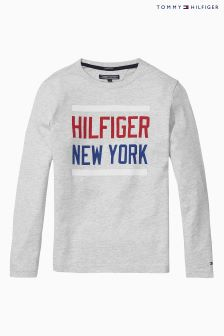 Tommy Hilfiger Grey Logo Jumper
