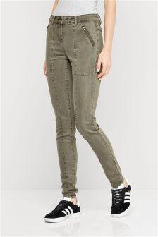 Utility Zip Jeans