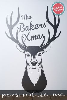 Personalised Stag Head Wall Sticker By Oakdene