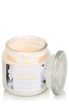 White Jasmine Fragranced Glass Jar Candle