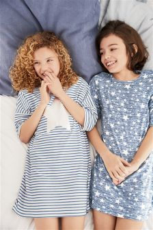 Star Print Nighties Two Pack (3-16yrs)