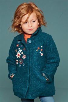 Embroidered Wool Mix Jacket (3mths-6yrs)