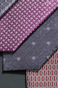 Signature Pattern Silk Tie