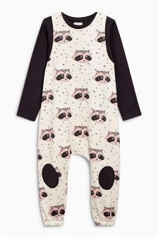 Raccoon All Over Print Romper (3mths-6yrs)
