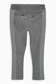 Zip Ponte Leggings (3-16yrs)