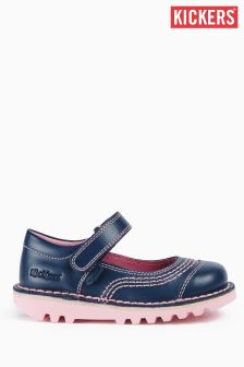 Kickers® Navy Kick Pop Velcro Shoe