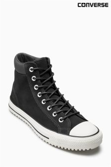 Converse Black/White Leather Boot
