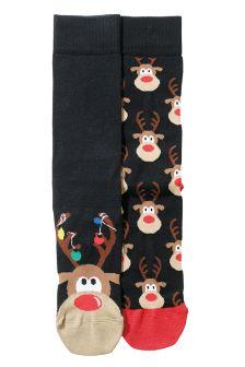 Rudolph Socks Two Pack