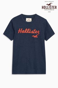 Hollister Navy Logo T-Shirt