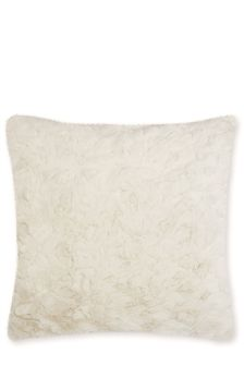 Cream Faux Fur Cushion Cover