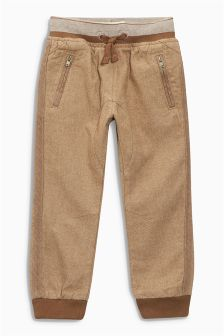 Rib Waist Pull-On Trousers (3mths-6yrs)