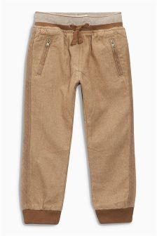 Rib Waist Pull-On Trousers (3mths-6yrs)