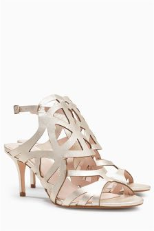 Leather Cut-Out Sandals