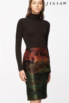 Jigsaw Autumnal Night Pencil Skirt