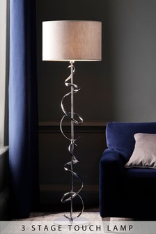 Ribbon Chrome Touch Floor Lamp