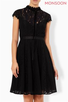 Monsoon Black Roxana Dress