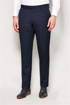Machine Washable Birdseye Slim Fit Suit Trousers