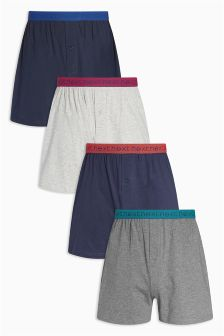 Bright Waistband Loose Fit Boxers Four Pack