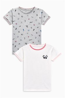 Icon Short Sleeve T-Shirts Two Pack (3-16yrs)