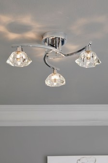 Siena 3 Light Flush Fitting