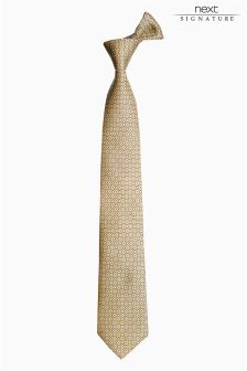 Signature Crest Print Tie