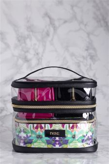 Set Of 4 Paradise Make-Up Bags