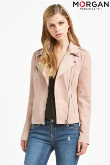 Morgan Suede Biker Jacket