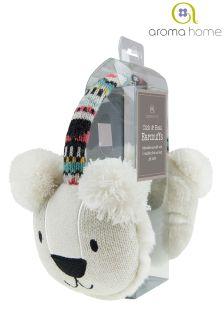 Aroma Home Knitted Polar Bear Cosy Ears