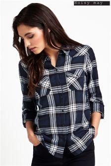 Noisy May Oversize Check Shirt