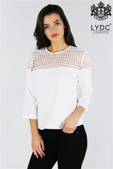 Lydc Shoulder Lace Insert Top