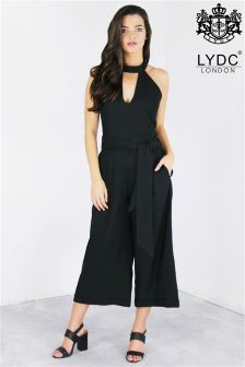 Lydc High Neck Tie Waist Jumpsuit