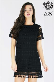Lydc Fan Hem Lace Shift Dress