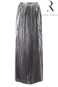 Rare Maxi Metallic Pleated Skirt