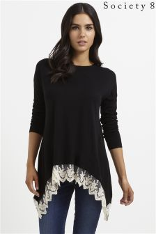 Scoiety 8 Lace Trim Jumper