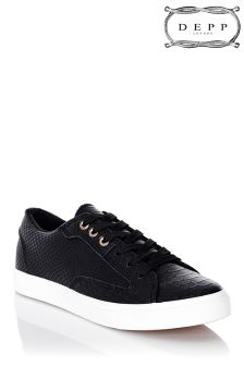 Depp Snake Leatherette Lace Up Sneaker