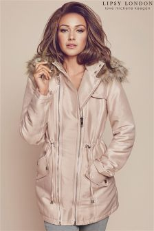 Lipsy Love Michelle Keegan Hooded Parka Jacket