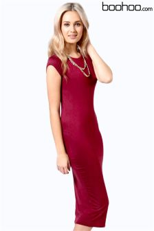 Boohoo Jersey Bodycon Midi Dress