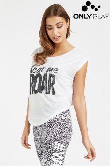 Only Play Hear Me Roar Slogan Tee