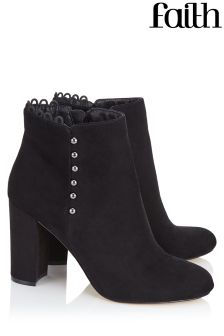 Faith Button Detailed Ankle Boot