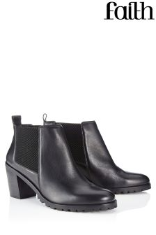 Faith Leather Ankle Boots