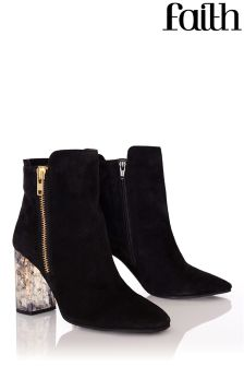 Faith Marbled Heel Ankle Boots