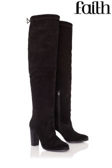 Faith Suede Knee High Boots