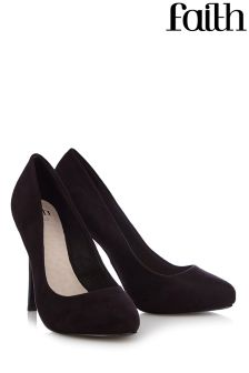 Faith Wide Fit Platform Court Shoe