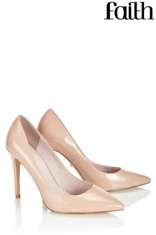 Faith Wide Fit Pointed Court Heels