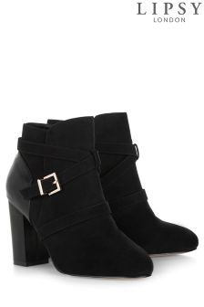 Lipsy Wrap Buckle Ankle Boots