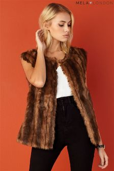 Mela Loves London Faux Fur Gilet