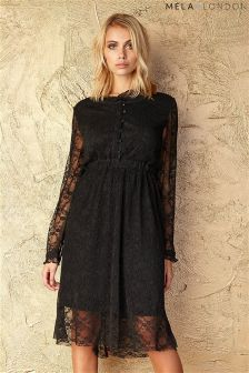 Mela Loves London Button Up Lace Dress